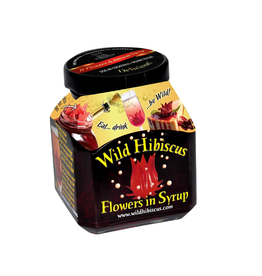 True Fabrications Wild Hibiscus Flowers in Syrup (edible)