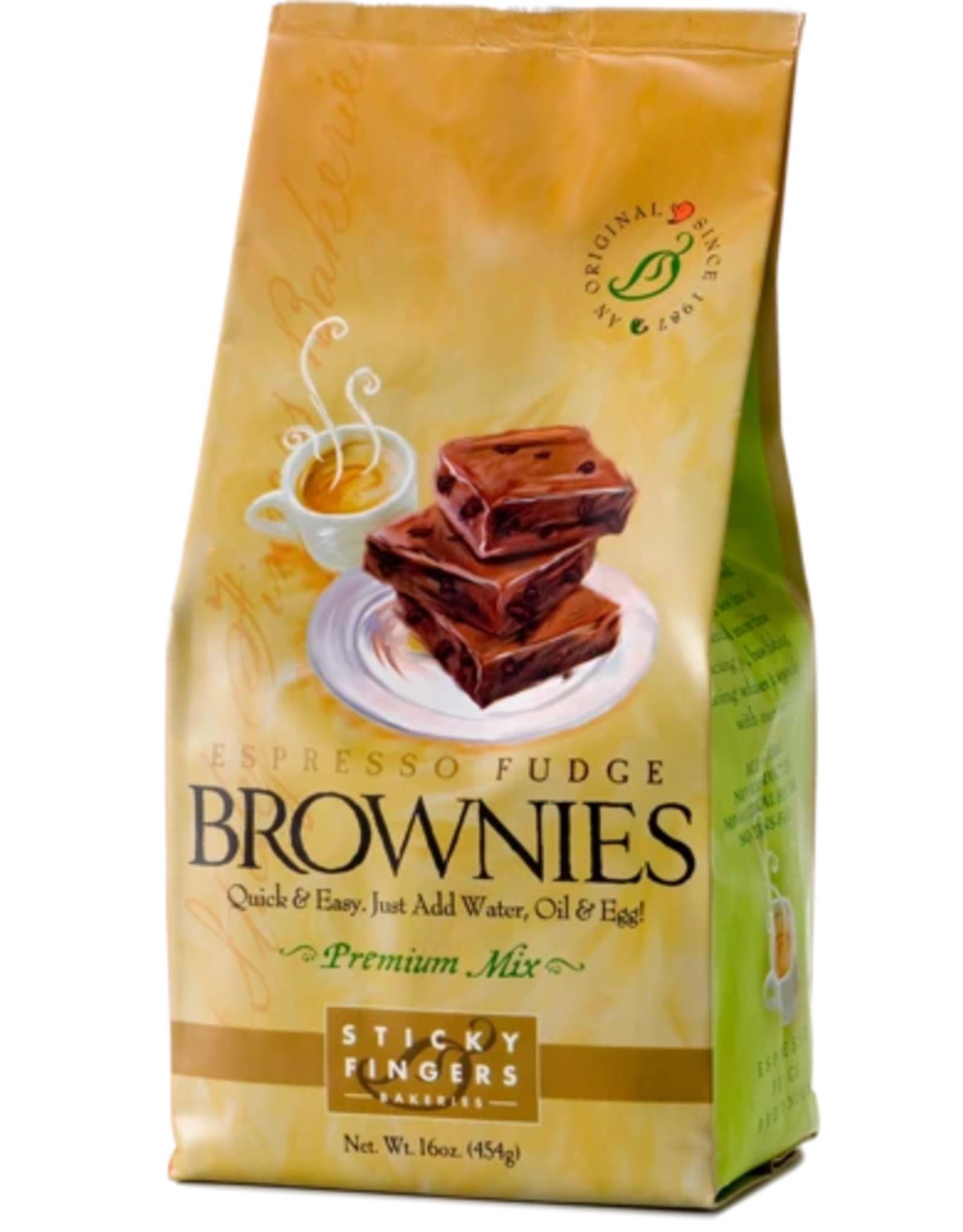 Sticky Fingers Brownies, Espresso Fudge