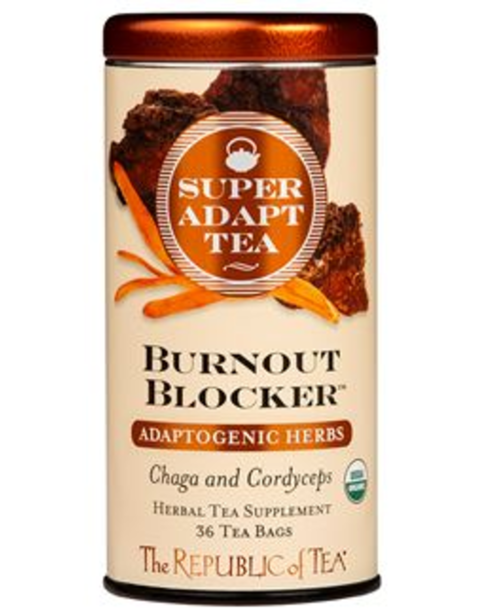 The Republic of Tea Burnout Blocker Tea 36 Bag Tin