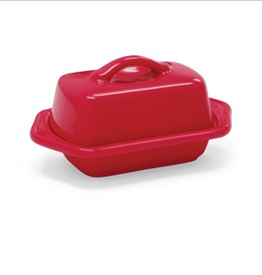 Chantal Mini Butter Dish, Red