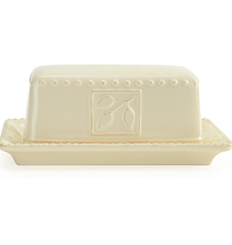 Signature Housewares Sorrento Butter Dish, Ivory