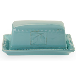 Signature Housewares Sorrento Butter Dish, Aqua