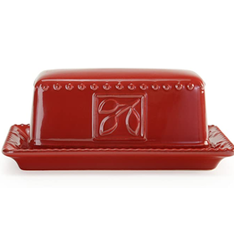Signature Housewares Sorrento Butter Dish, Ruby