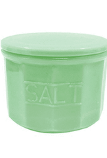 Tablecraft Jadeite Glass Salt Cellar, 10oz