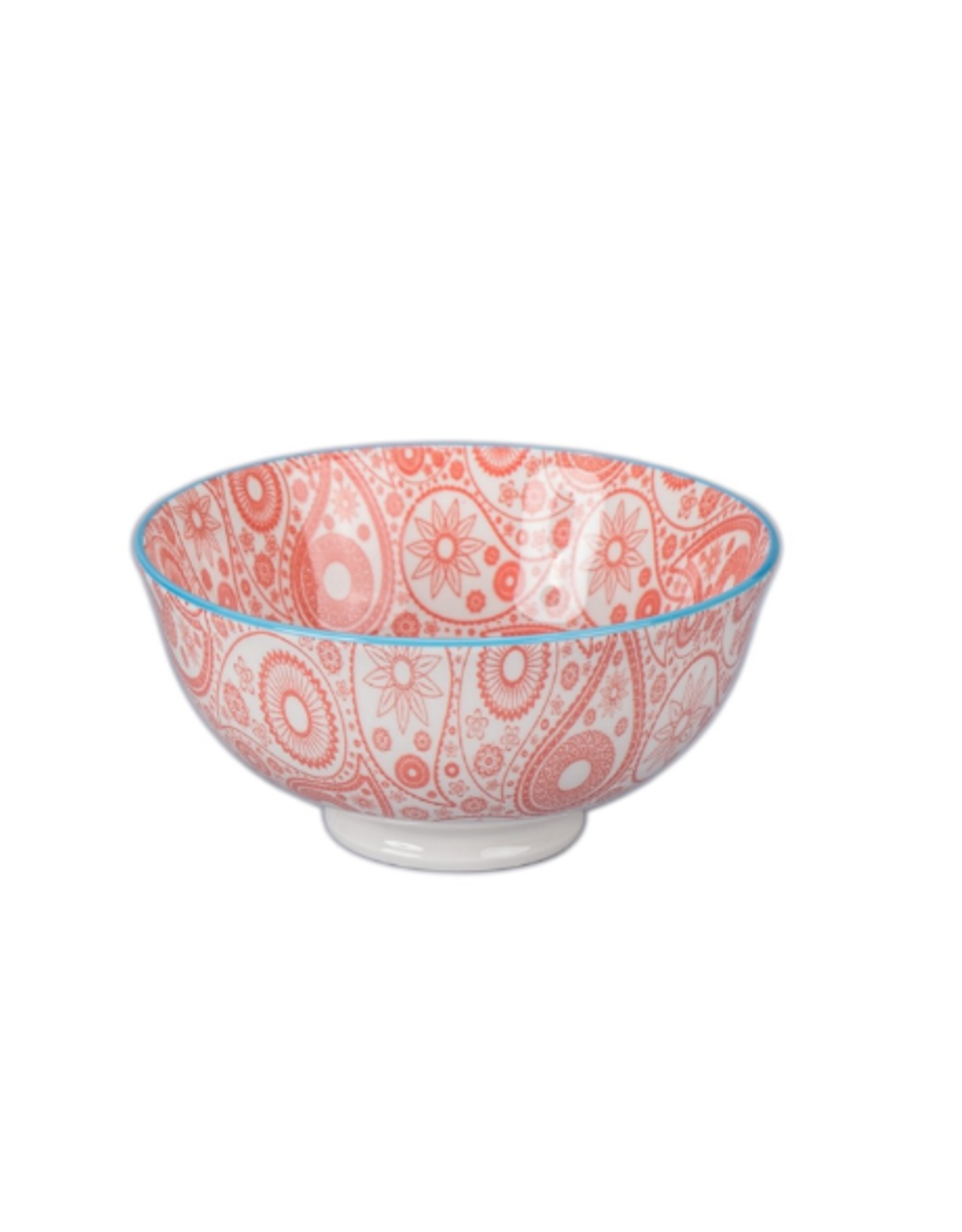 BIA Cordon Bleu Paisley Bowl, Red/Turq