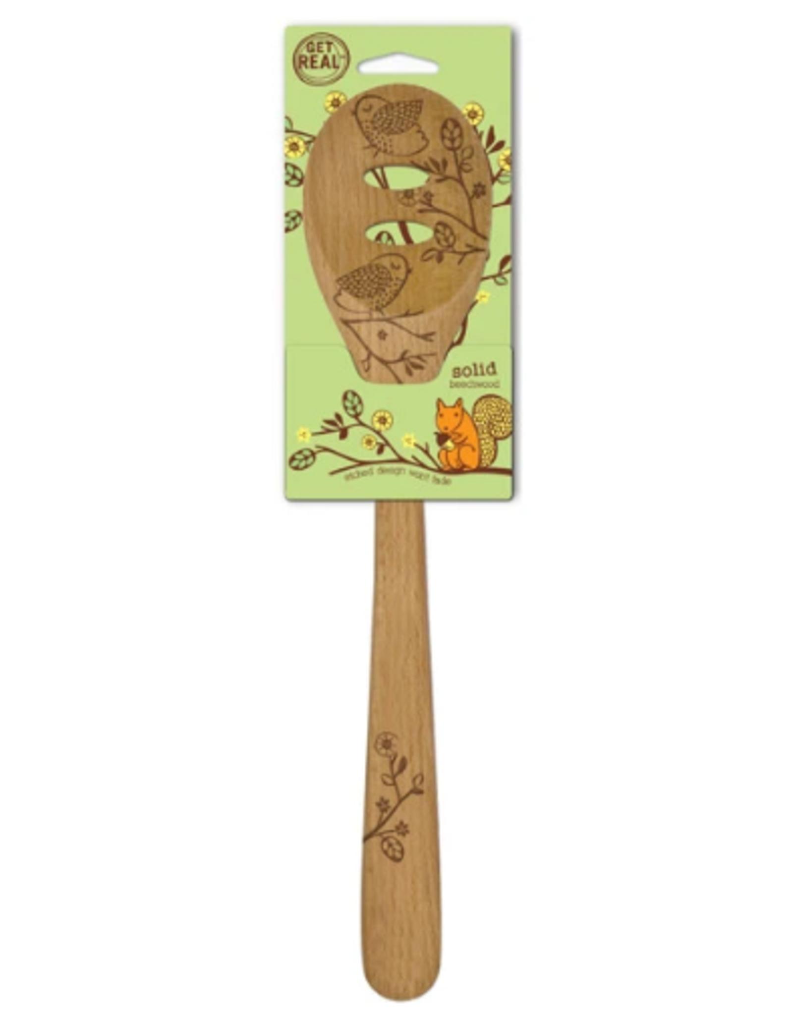 Talisman Design Beechwood Slotted Spoon, Woodland