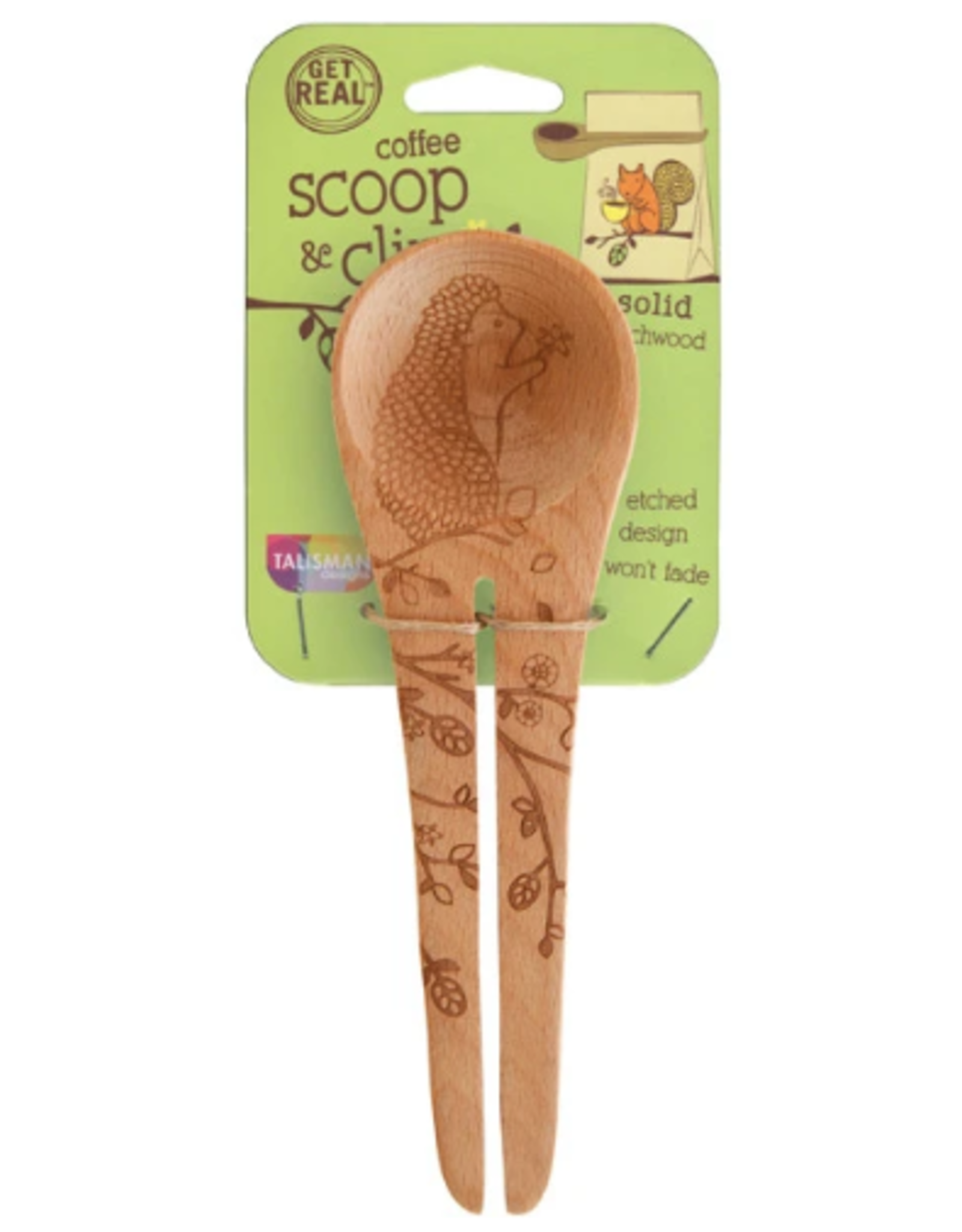 Talisman Design Beechwood Coffee Scoop, Woodland