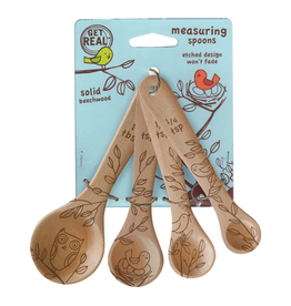 Talisman Design Beechwood Measuring Spoons, Nature Set4