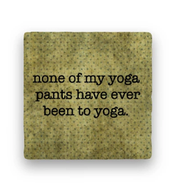 Paisley & Parsley Designs Coaster, Yoga