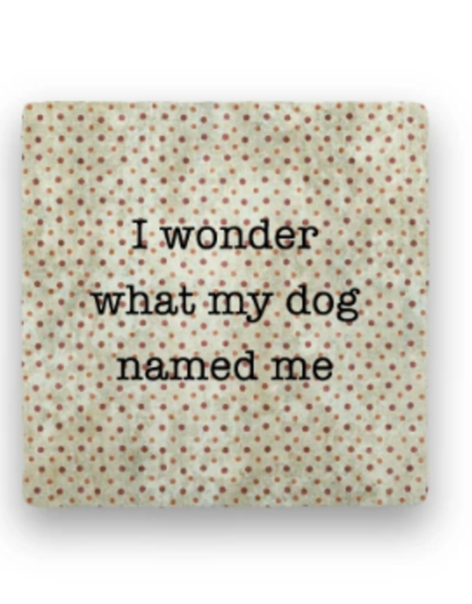 Paisley & Parsley Designs Coaster, Dog Named Me