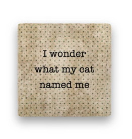 Paisley & Parsley Designs Coaster, Cat Named Me