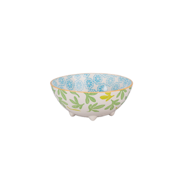 BIA Cordon Bleu Emma Footed Bowl, Turq/Org