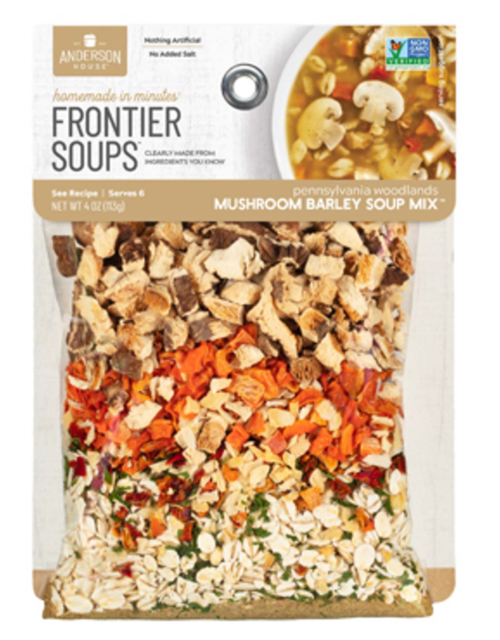 Frontier Soups Pennsylvania Woodlands Mushroom Barley Soup Mix