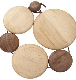 Kuhn Rikon Maple & Black Walnut Wooden Trivet