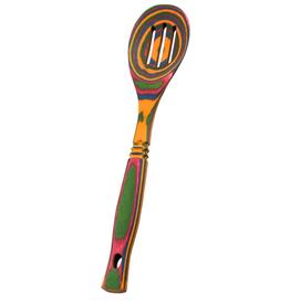 Island Bamboo Rainbow Pakka Slotted Spoon