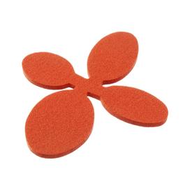 Talla Imports Felt Trivet, Small, Rosehip Orange