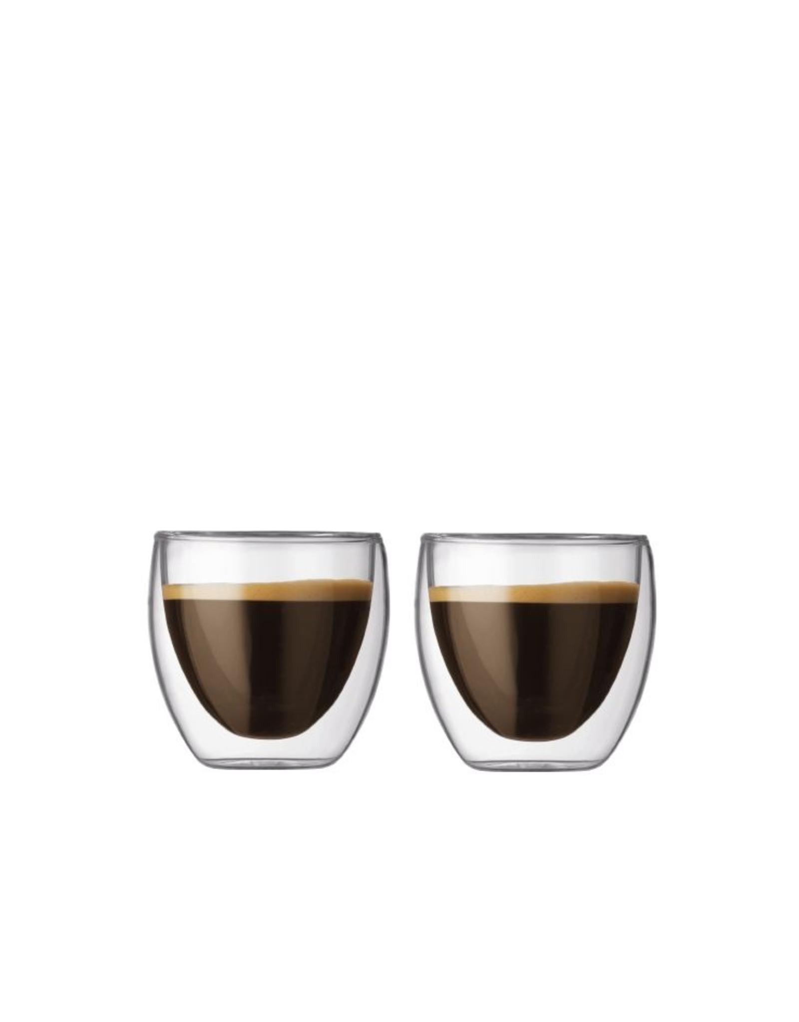 Bodum Pavina Glasses Extra Small 2.5 oz Set2