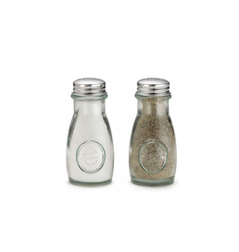 Tablecraft Recycled Glass S&P Shakers, Set2