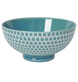 """Now Designs Bowl 8"""", Honeycomb Teal"""