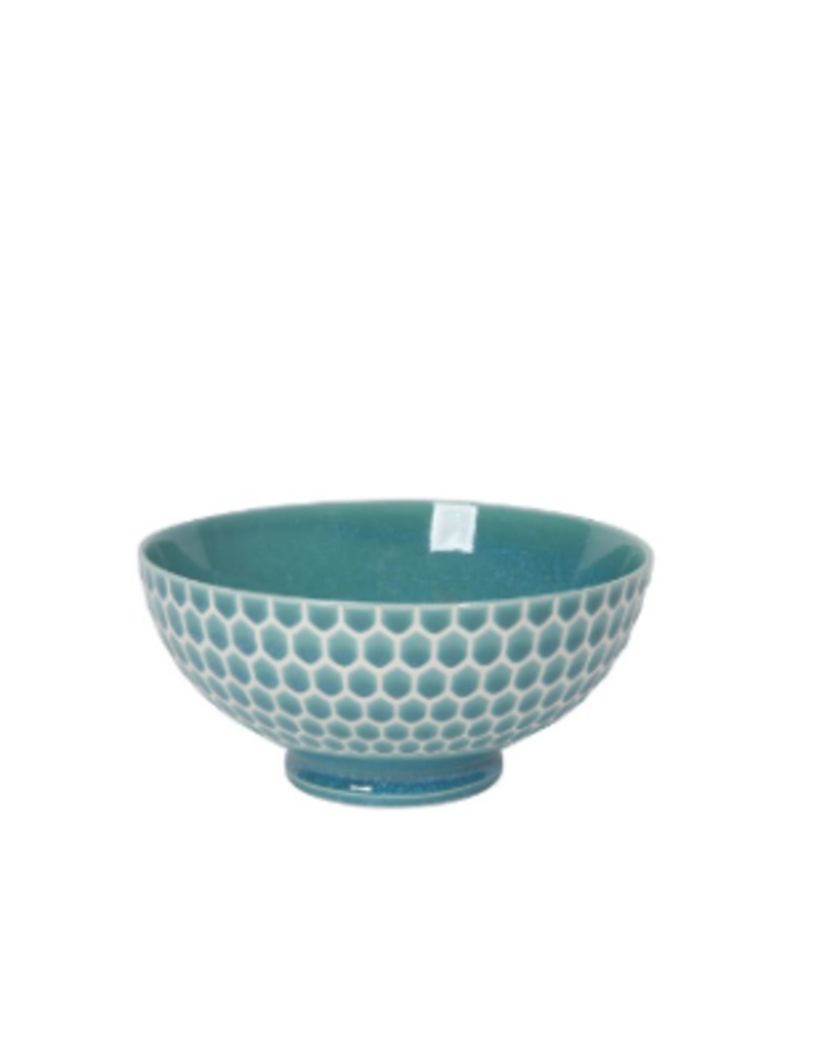"""Now Designs Bowl 6"""", Honeycomb Teal"""