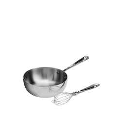 All-Clad PROMO AC Stainless 2 Qt. Saucier, No Lid/with whisk