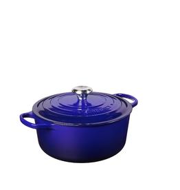 Le Creuset Signature Round Dutch Oven, 5.5 Qt, Indigo
