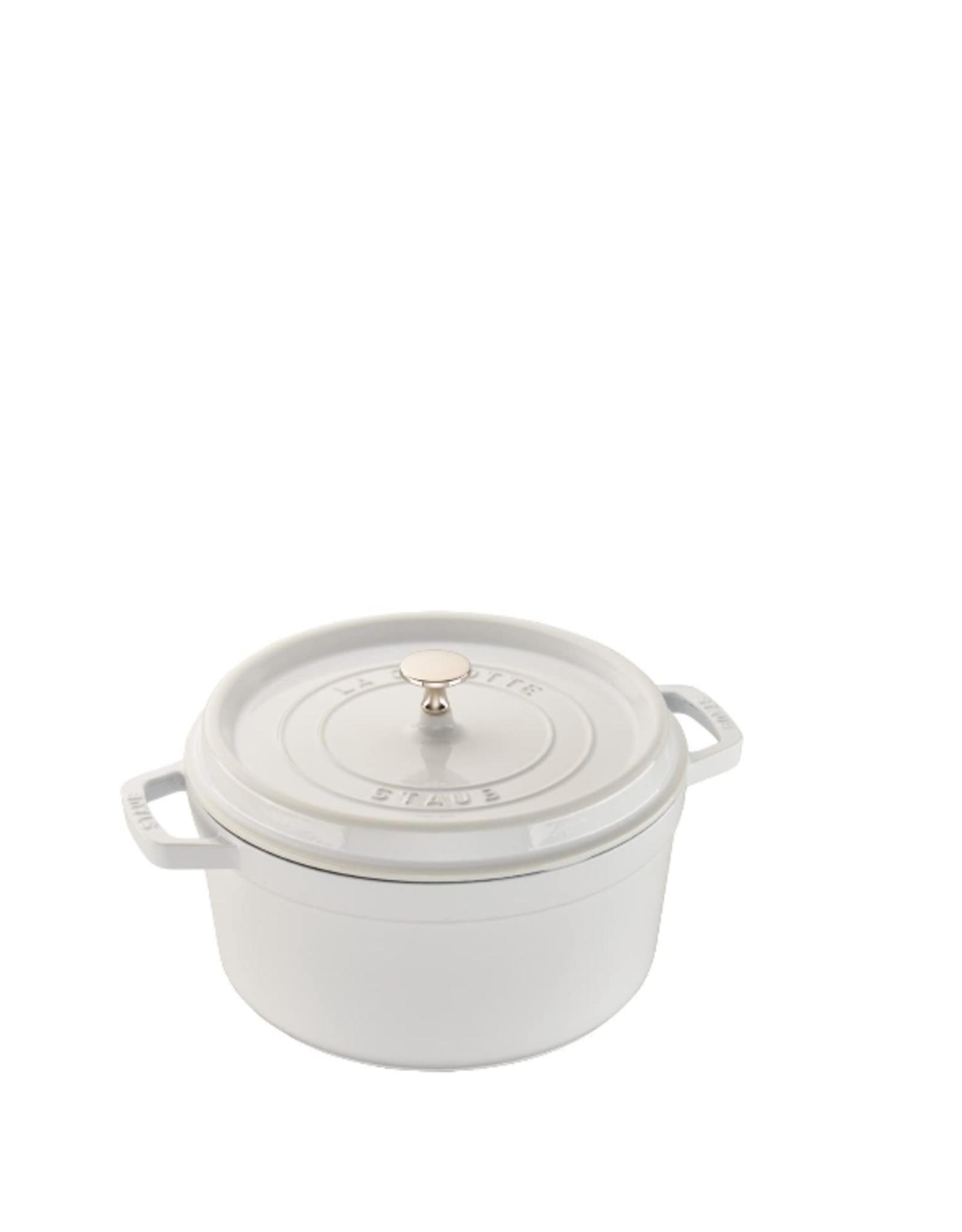 Round Cocotte, 5.5Qt, White