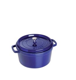 Staub Round Cocotte, 5.5Qt, Dk Blue