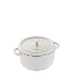 Staub Round Cocotte, 7Qt, White