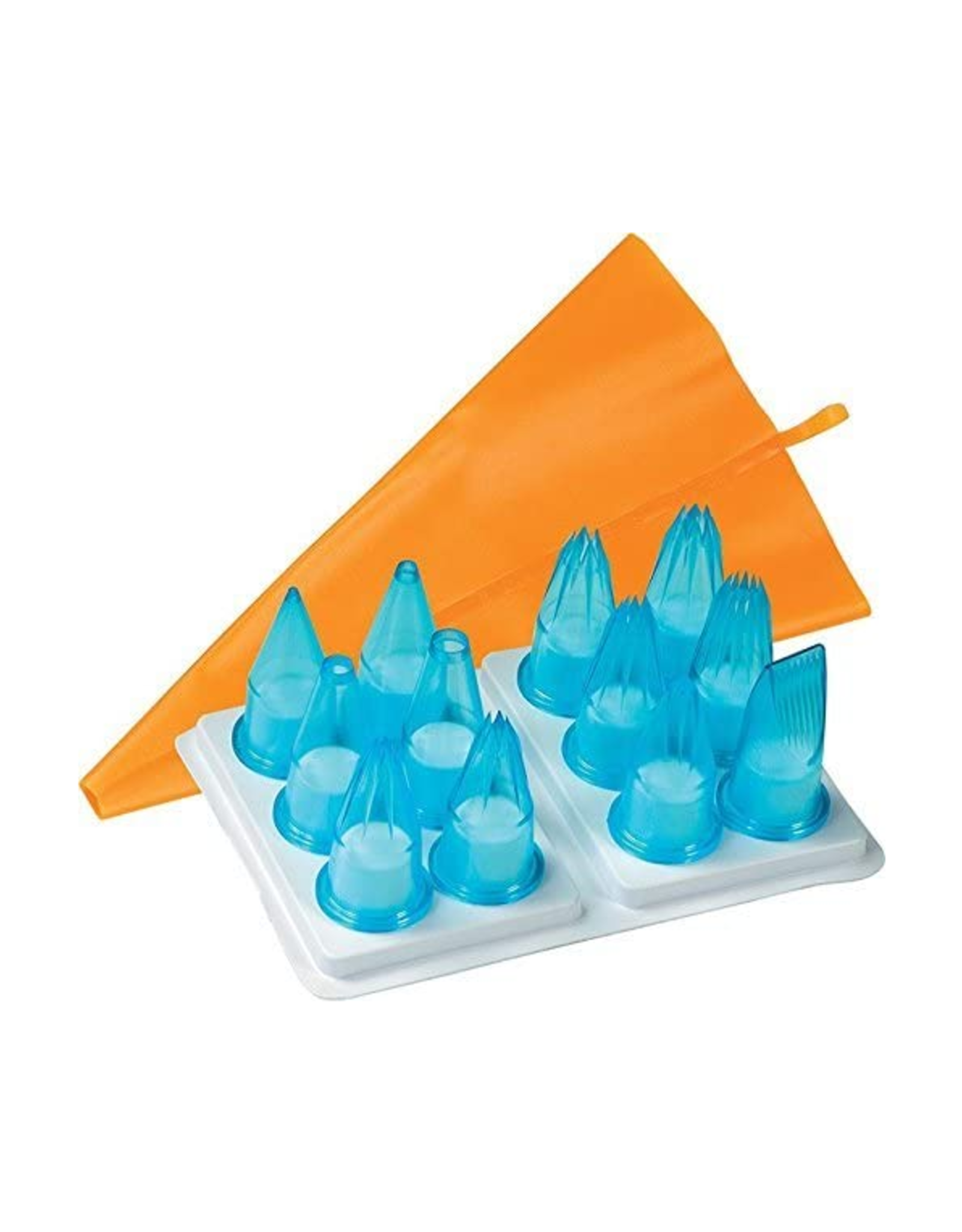 Fat Daddios 12 pc. Pastry Tube Set, Blue