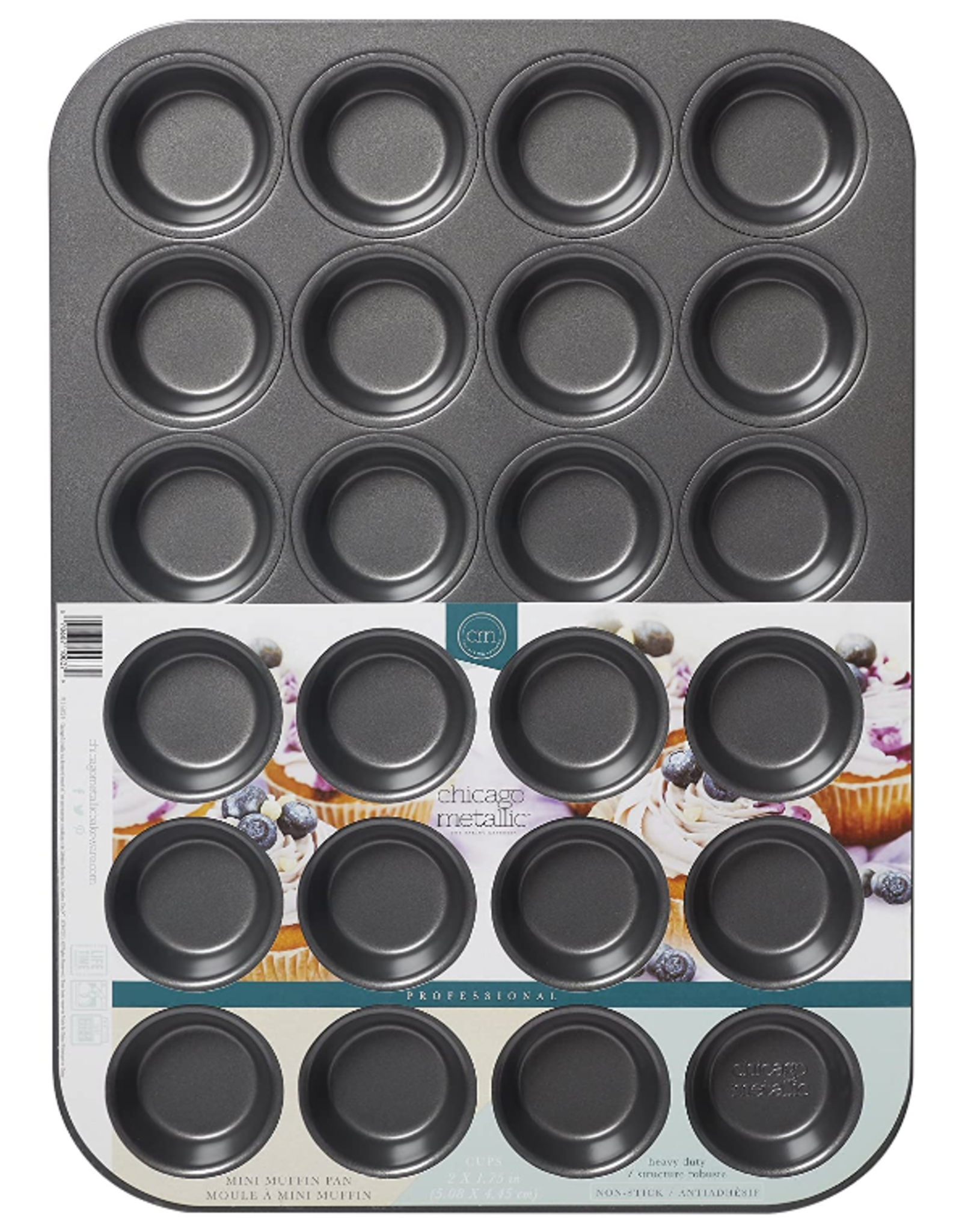 Chicago Metallic ChicMet 24 cup Mini Muffin Pan