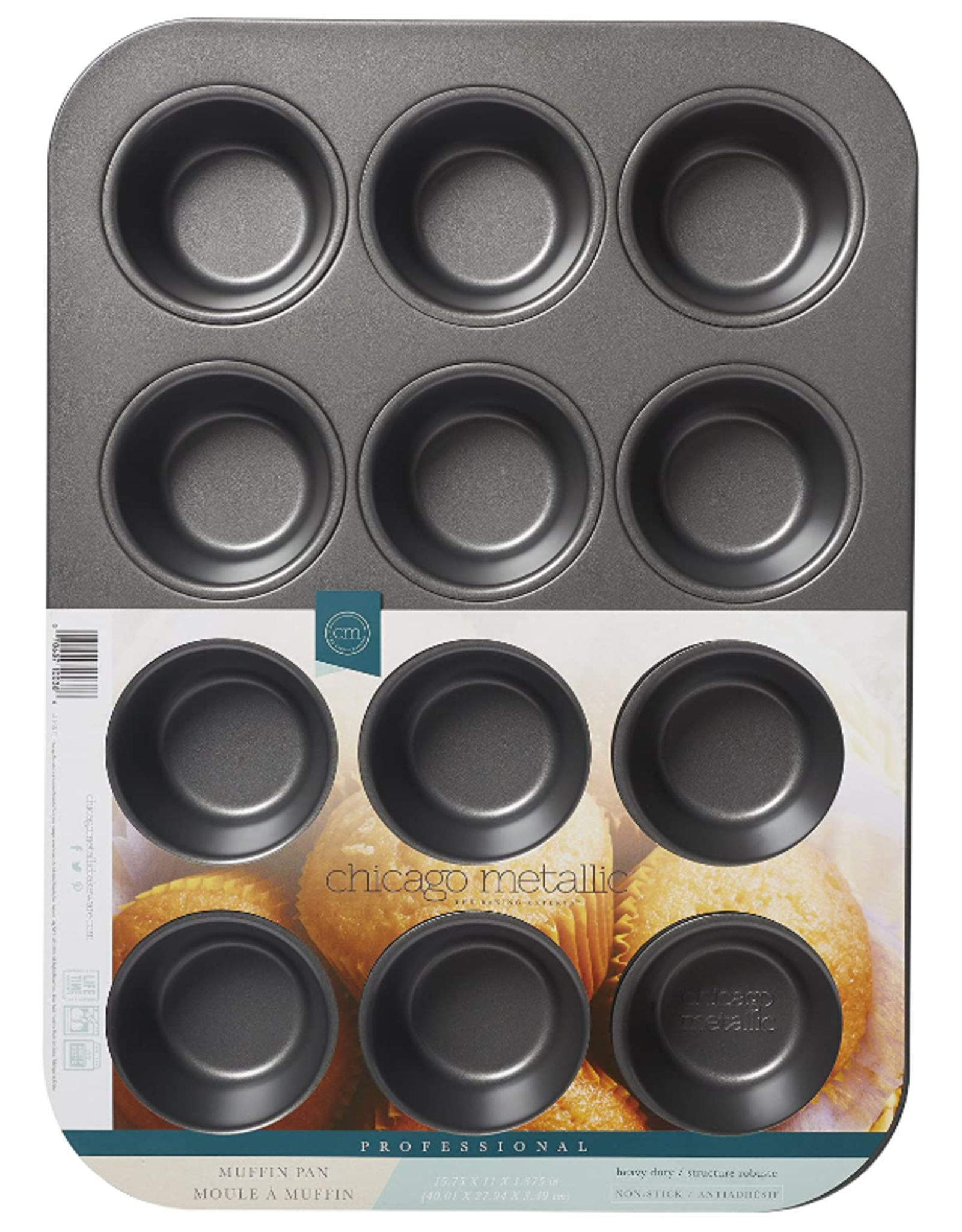 Chicago Metallic ChicMet 12 Cup Muffin Pan
