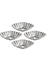 Harold Import Company Inc. Tartlet Mold, Fluted Diamond, 3x1, 4pc