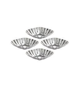 Harold Import Company Inc. Tartlet Mold, Fluted Diamond, 3x1, 4pc
