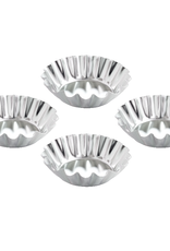 Harold Import Company Inc. Tartlet Mold, fluted Round, 2x1, 4pc