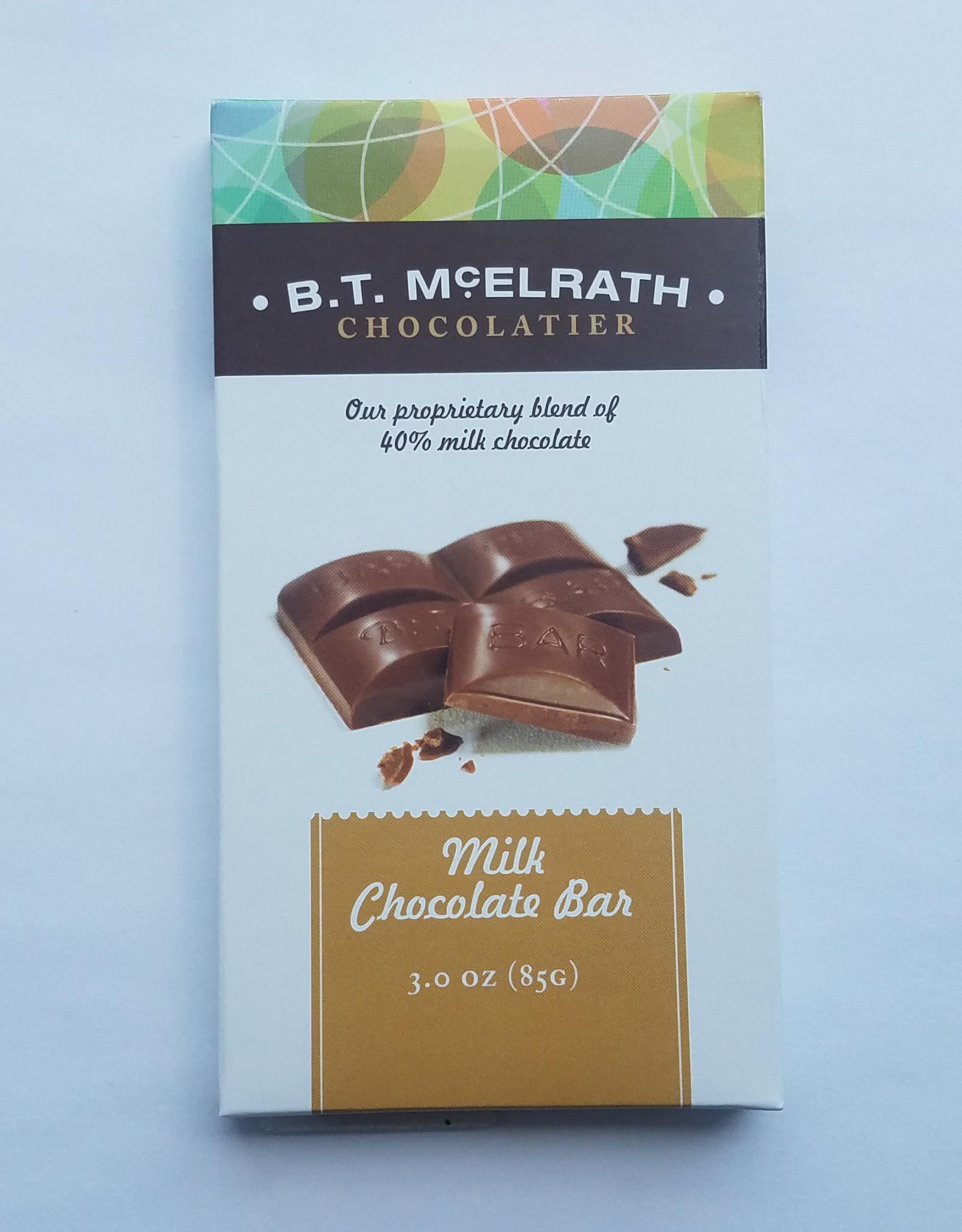 BT McElrath 40% Milk Choc Bar, 3 oz