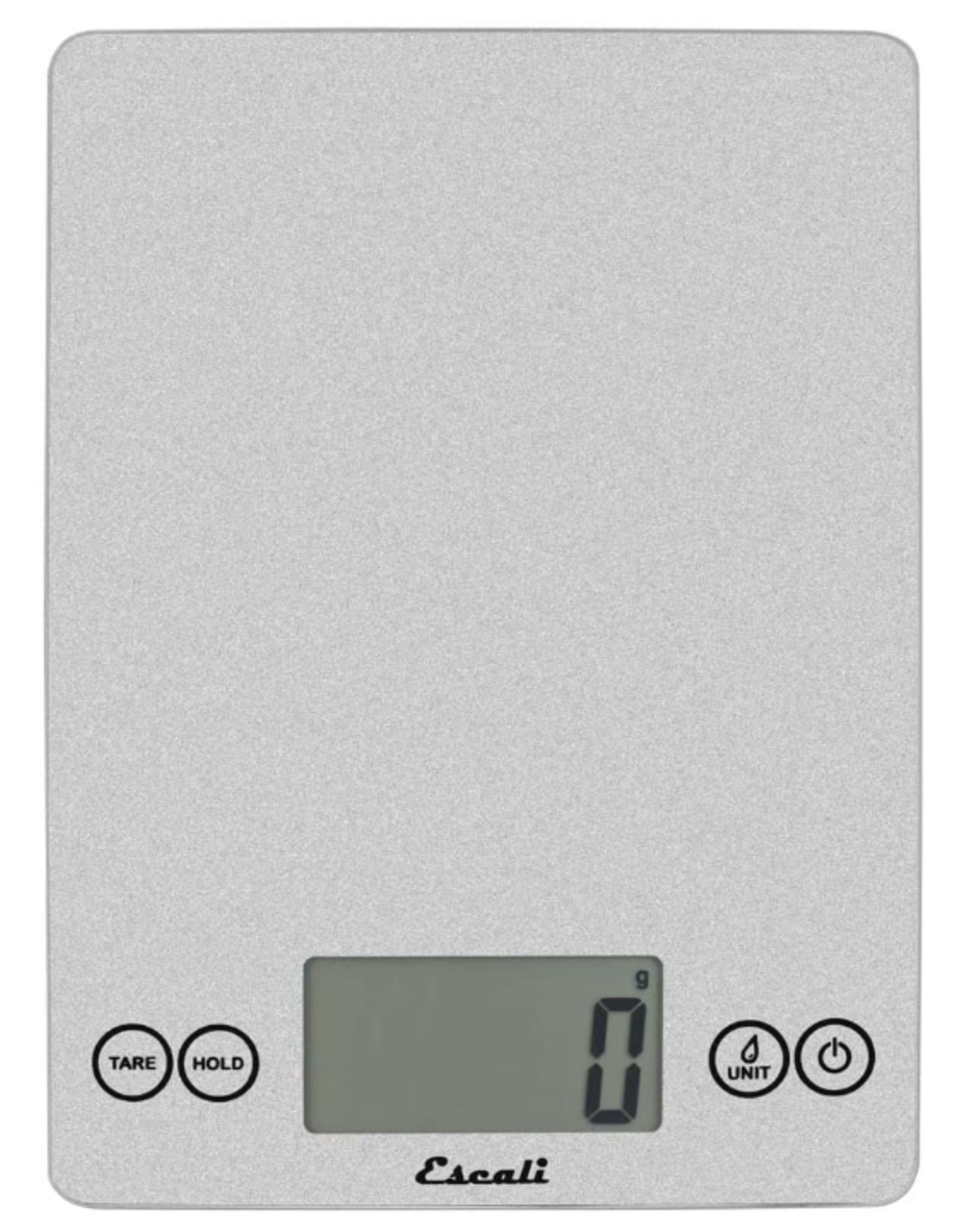Escali Arti Glass Digital Scale, shiny silver