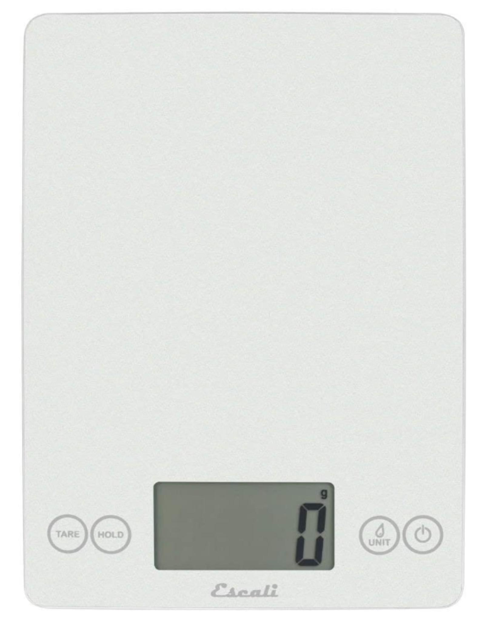 Escali Arti Glass Digital Scale, frost white