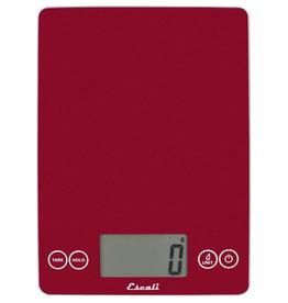 Escali Arti Glass Digital Scale, Red