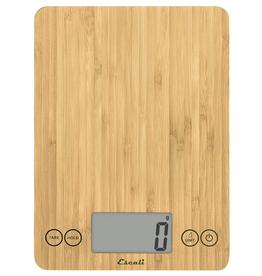Escali Arti Glass Digital Scale, eco bamboo