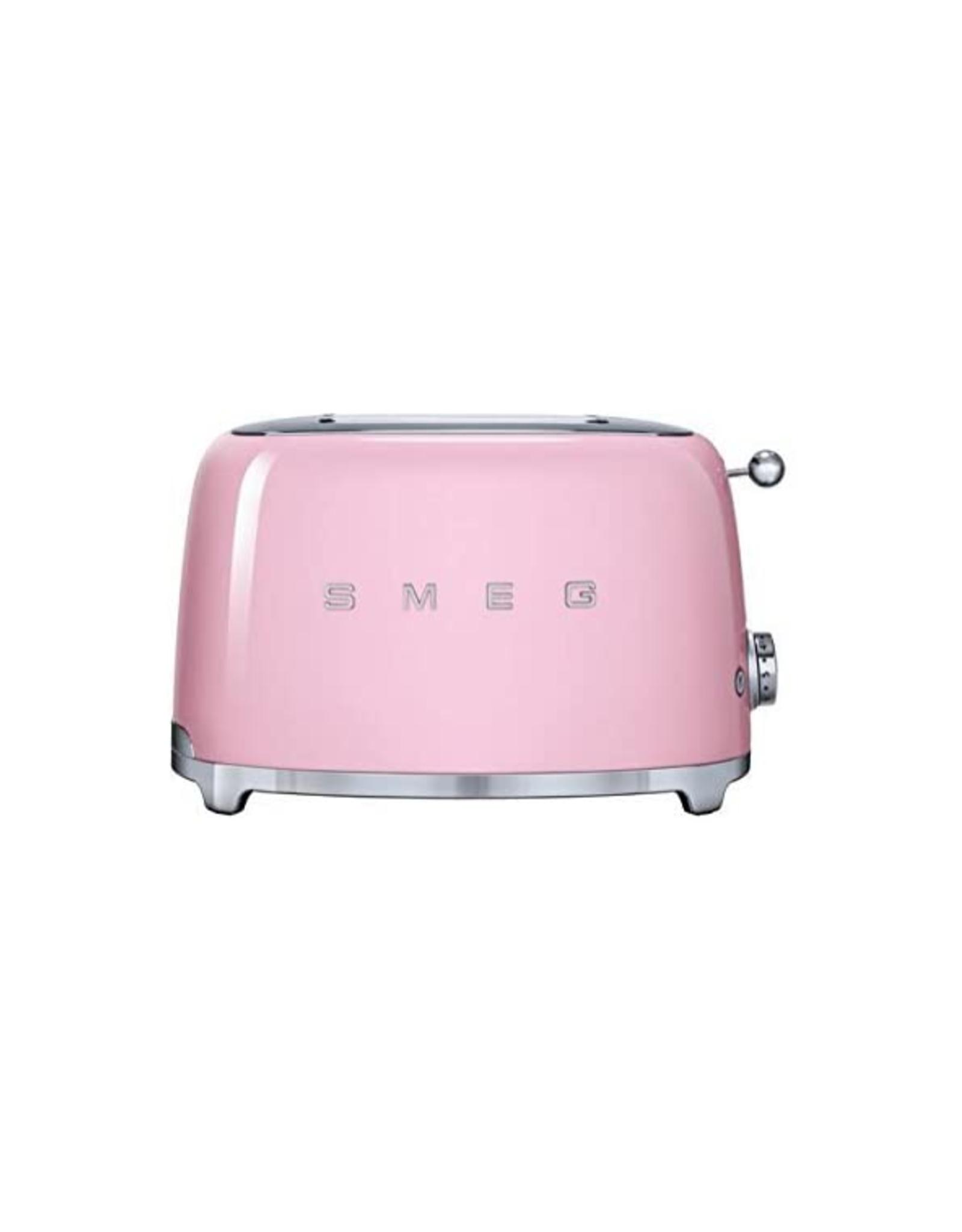 Smeg 2 Slice Toaster, Pink