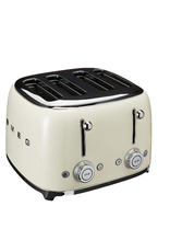 Smeg 4 Slot Toaster, Cream