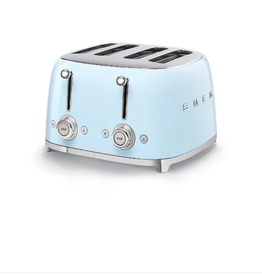 Smeg 4 Slot Toaster, Pastel Blue
