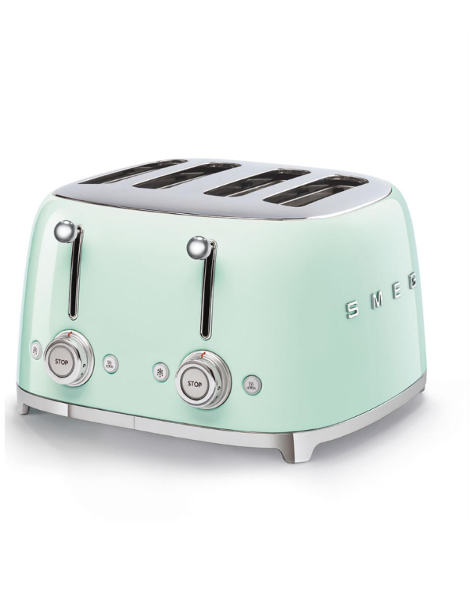 Smeg 4 Slot Toaster, Pastel Green