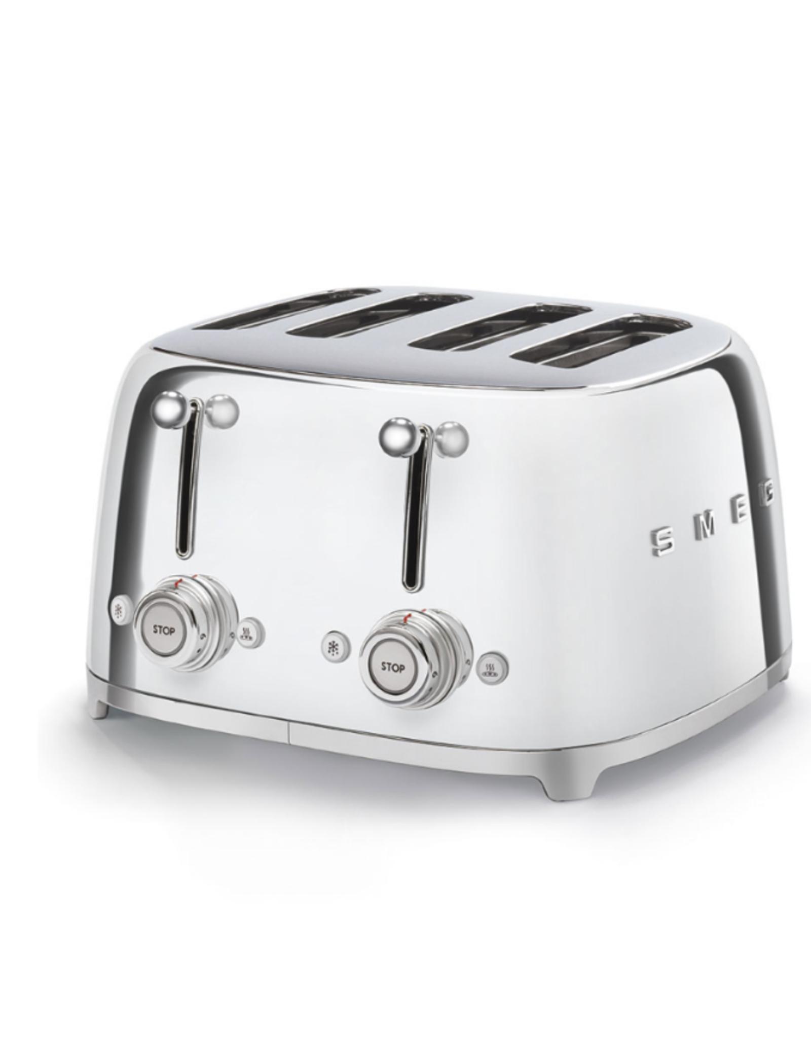 Smeg 4 Slot Toaster, Chrome