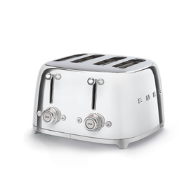 Smeg 4 Slot Toaster, Chrome