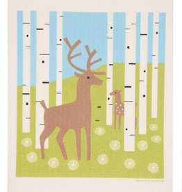 Cose Nuove Swedish Dishcloth, Deer In Forest, Summer