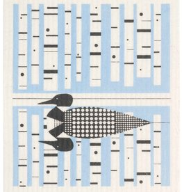 Cose Nuove Swedish Dishcloth, Loon, blue, All Year