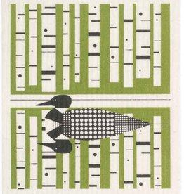 Cose Nuove Swedish Dishcloth, Loon, green