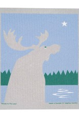 Cose Nuove Swedish Dishcloth, Moose By Lake Night